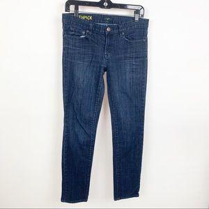 J. Crew Toothpick Skinny Ankle Jeans Dark Wash